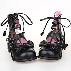 Schoenen Schattig Veters Plateau Schoenen Strik 2.5 CM Zwart Voor PU-leer/Polyurethaan Leer