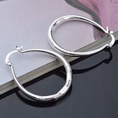 Stříbrná - Dámské - Náušnice kruhy