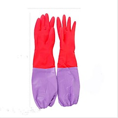1 Paar Abwasch Latex Küche Geschirrwasserdicht Samt warme Handschuhe