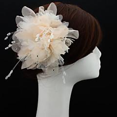 Femme Mousseline Casque-Mariage / Occasion spéciale / Extérieur Coiffure / Fleurs / Chapeau 1 Pièce