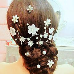 Vrouwen / Bloemenmeisje Licht Metaal / Imitatie Parel Helm-Bruiloft / Speciale gelegenheden / Informeel Bloemen / Haarspeld / Hoofdketting