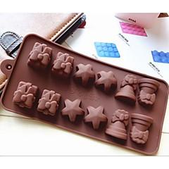 divat dekoráció ice csokoládé díszítő torta eszközök szilikon torta forma édességet zselés modellezés penész (véletlenszerű szín)