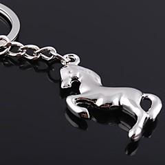 Zinc Legering Nyckelrings Favors-1Piece Piece / Set Nyckelband Ej personlig Silver