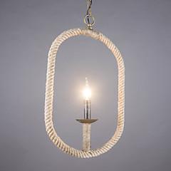 Max40W Pendelleuchten ,  Traditionell-Klassisch / Rustikal/ Ländlich / Retro / Rustikal Bronze Feature for Candle-Art MetallWohnzimmer /
