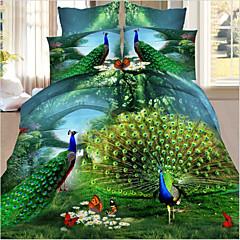 3D (Zufallsmuster) Polyester 4 Stück Bettbezug-Sets