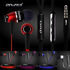 ryzí awei s80vi sluchátkový 3,5 mm do zvukovodu basů s mikrofonem dálkový ovladač k iphone6 6 plus S6 (Smíšený Barva)