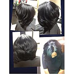 Peruukki - Aitoa hiusta - Suora Ruskea - Naisten