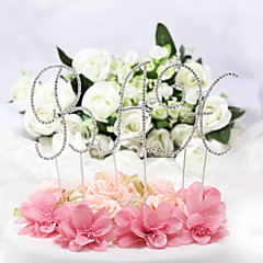 Cake Topper Non-personalized Monogram Chrome Wedding / Anniversary / Bridal Shower / Baby Shower / Quinceañera & Sweet Sixteen / Birthday