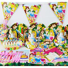 78pcs prinsesbaby decoratie van de verjaardagspartij kinderen evnent partij levert partij decoratie