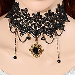 Vintage Vine Gem Bead Necklace