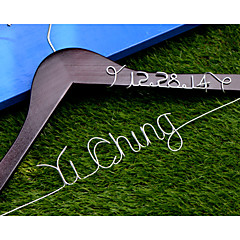 Personalized Custom Wedding Dress Hanger with Wire Name and Date