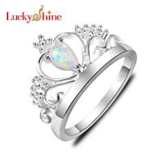 指輪 女性用 / 子供用 クリスタル 銀 銀 8 / 9 銀 装飾物のカラーは画像をご参照ください.