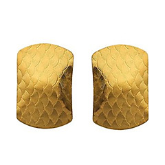 European and American Fashion Jewelry Simulation of 18 K Gold Fashionable Joker Side Stud Earrings