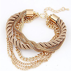 Chain Bracelets Unique Design multilayer woven Braided/Cord Bridal for Wediing Party Daily Christmas Gifts