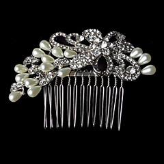Femme Strass / Alliage / Imitation de perle Casque-Mariage Peigne 1 Pièce
