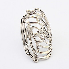 Women's Europe and the United States Punk Style Flower Design Precious Alloy Ring