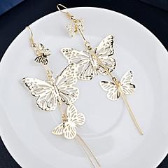 Brincos Compridos Liga Prata Dourado Jóias Para Casamento Festa Diário Casual 2pçs