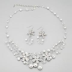 Conjunto de jóias Mulheres / Crianças Aniversário / Casamento / Noivado / Presente / Festa / Ocasião Especial Conjuntos de Joalharia