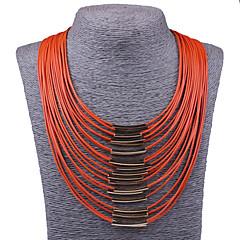 Naisten Statement kaulakorut Isot kaulakorut Korut Metalliseos Muoti Statement-korut Vintage Oranssi Beesi Punainen Sininen Fuksia Korut