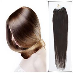 klass 5a 1st / lot 16inch / 40 multicolors raka mikro ring hårförlängningar människohår väver 100s / förpackning 0,4 g / s