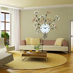 blomstret design jern vægur