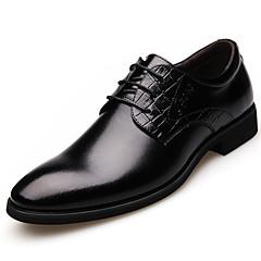 Sapatos Masculinos Oxfords Preto / Marrom Couro Casamento / Escritório & Trabalho / Festas & Noite