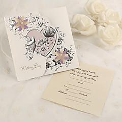 מותאם אישית משולש הזמנות לחתונה כרטיסי הזמנה-50 יחידה / סט נייר פנינה