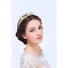Women's Gold / Alloy Headpiece-Wedding / Special Occasion / Casual Tiaras 1 Piece