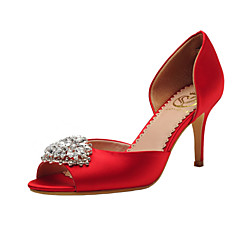 Women's Shoes Satin Spring / Summer / Fall Peep Toe / D'Orsay & Two-Piece / Open Toe Wedding / Dress / Party & Evening Stiletto Heel