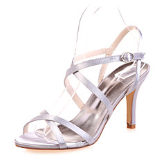 Women's Wedding Shoes Open Toe Sandals Wedding/Party & Evening Black/Blue/Pink/Purple/Ivory/White/Silver