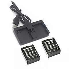 Gopro hero 3 3+ Charger Kit 2Pcs  3.7V 1050mAh Gopro Hero 3/3+ Battery +Dual 2 Battery USB Charger for GoPro3 3+
