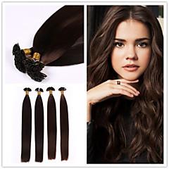 """18 """"-28"""" brasilianska jungfru hår platt spets hårförlängning 1g / sträng 50g / pack fusion hårförlängning"""