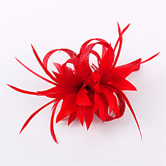 Handmade Small Sinamay Feather Brooch Clip Fascinators Headpiece (more colors)