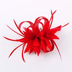 Γυναικείο Κορίτσι Λουλουδιών Φτερό Λινάρι Headpiece-Γάμος Ειδική Περίσταση Καθημερινά Υπαίθριο Διακοσμητικά Κεφαλής 1 Τεμάχιο