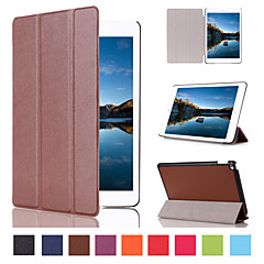 7.9 tommer tredobbelt foldning mønster høj kvalitet pu læder taske til iPad Mini 4 (assorterede farver)