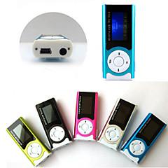 8g mini slanke clip usb mp3-muziek media player lcd-scherm
