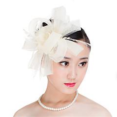 Vrouwen Veren / Polyester Helm-Bruiloft / Speciale gelegenheden / Informeel / Buiten Fascinators 1 Stuk