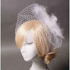 Femme Plume / Tulle Casque-Mariage / Occasion spéciale / Décontracté Voile de cage à oiseaux 1 Pièce