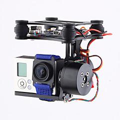 cnc marca 2axis brushless câmera cardan de montagem com motor& controlador PTZ fpv para gopro3 3+ 4 dji fantasma 2 3