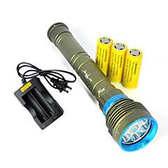 Torce LED LED 3 Modo 10800 Lumens Impermeabili / Ricaricabile / Resistente agli urti /  Strike Bezel / Tattico / Emergenza Cree XM-L2