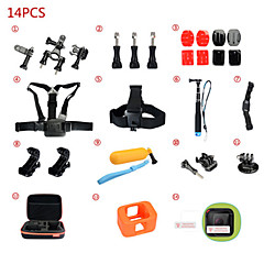 Gopro Accessories Accessory KitFor-Action Camera,Gopro Hero 2 / Gopro Hero 5 / Gopro Hero 4 Session Universal *(14pcs)Other / Nylon /