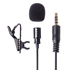 BOYA BY-LM10 Lavalier Omnidirectional Condenser Microphone for Apple iPhone, iPad, Android and Windows Smartphones