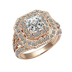 Ring Women's Cubic Zirconia Alloy Alloy 7 / 8 / 9 Gold