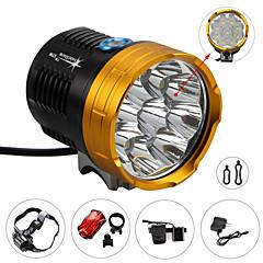 Eclairage de Vélo / bicyclette LED 4.0 Mode 12000 LumensEtanche / Rechargeable / Résistant aux impacts / Tête crénelée / Tactique /
