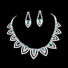 Takı Seti Kadın's Yıldönümü / Düğün / Nişan / Doğumgünü / Hediye / Parti / Özel Anlar Mücevher Setleri alaşım Yapay ElmasKolyeler /