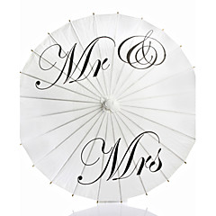 Mr & Mrs Painted Wedding Paper Parasol