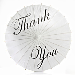 Thank You Painted Wedding Paper Parasol