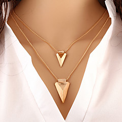 Wholesale Women Necklace European Style Triangle Layered Chain Necklace