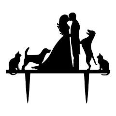 Kakkukoristeet Non-personalized Klassinen pari Akryyli Vuosipäivä / Bridal Shower-kutsut / Häät Musta Klassinen teema / Satu-teema 1 OPP
