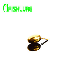 Afishlure Elliptic Copper Lead Sinker Kit Pure Copper Fishing Weights 1.75g Pesca Copper Pendant 12pcs/lot